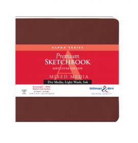 """Alpha Series, 7 1/2 7 1/2"""", Softcover, #101750S Stillman & Birn Mixed Media Sketchbooks, Square, 92 pages"""