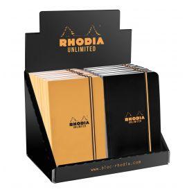 Rhodia - Unlimited - Pocket Notebook - Graph - 60 Sheets - Display - Orange/Black