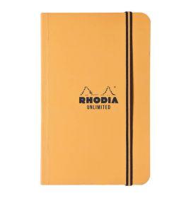 "Rhodia - Unlimited - Pocket Notebook - Lined - 60 Sheets - 3 1/2 x 5 1/2"" - Orange"