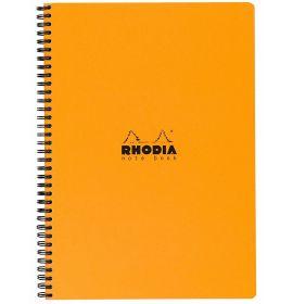 """Rhodia - Wirebound Notebook - Graph - 80 Sheets - 9 x 11 3/4"""" - Orange"""