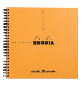 "Rhodia - Reverse Book - Dot Grid - 80 Sheets - 8 1/4 x 8 1/4"" - Orange"