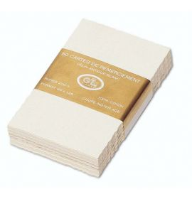 #263/55 G. Lalo Open Stock French Wedding Invitation Cards 7 ½ x 5 ¾ Deckle edge Antique White 50 cards