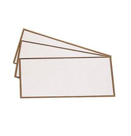 #357/04 G. Lalo Open Stock French Wedding Place card 1 ¾ x 3 ¾ Gold border White 12 cards