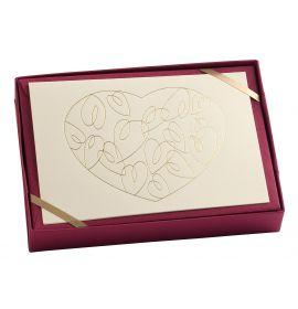 "G. Lalo - Tresor Design - 5 Cards and Envelopes - 4 1/4 x 6"" - Heart"
