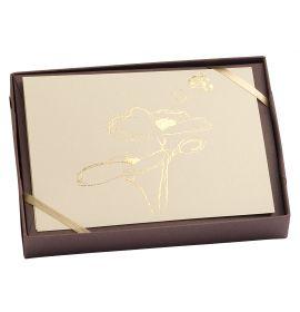 "G. Lalo - Tresor Design - 5 Cards and Envelopes - 4 1/4 x 6"" - Poppy"