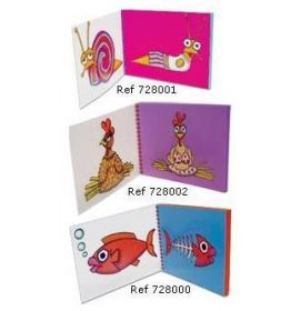 #728002 Clairefontaine Small Notebooks Sophie Maxwell Discover Collection 8 1/4 x 6 Color Paper Hen 50 sheets