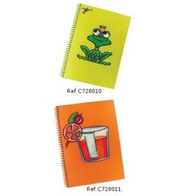 #728010 Clairefontaine Large Notebooks Sophie Maxwell Discover Collection 8 1/4 x 11 3/4 Color Paper Frog 50 sheets