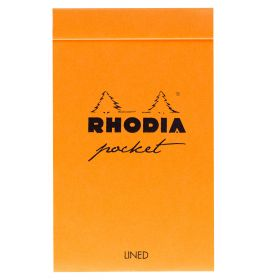 "Rhodia - Pocket Notepad - Display - Dot Grid - 40 Sheets - 3 x 4 3/4"" - Black and Orange"