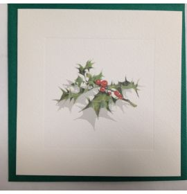#905/75 Aquarelle Blank Note Cards - Holly