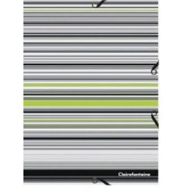 #953100 Clairefontaine Wild Stripes Polypro Portfolio Assorted Covers Pack 25